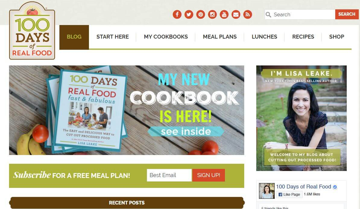 100DaysOfRealFood -Amazon Affiliate Website Example