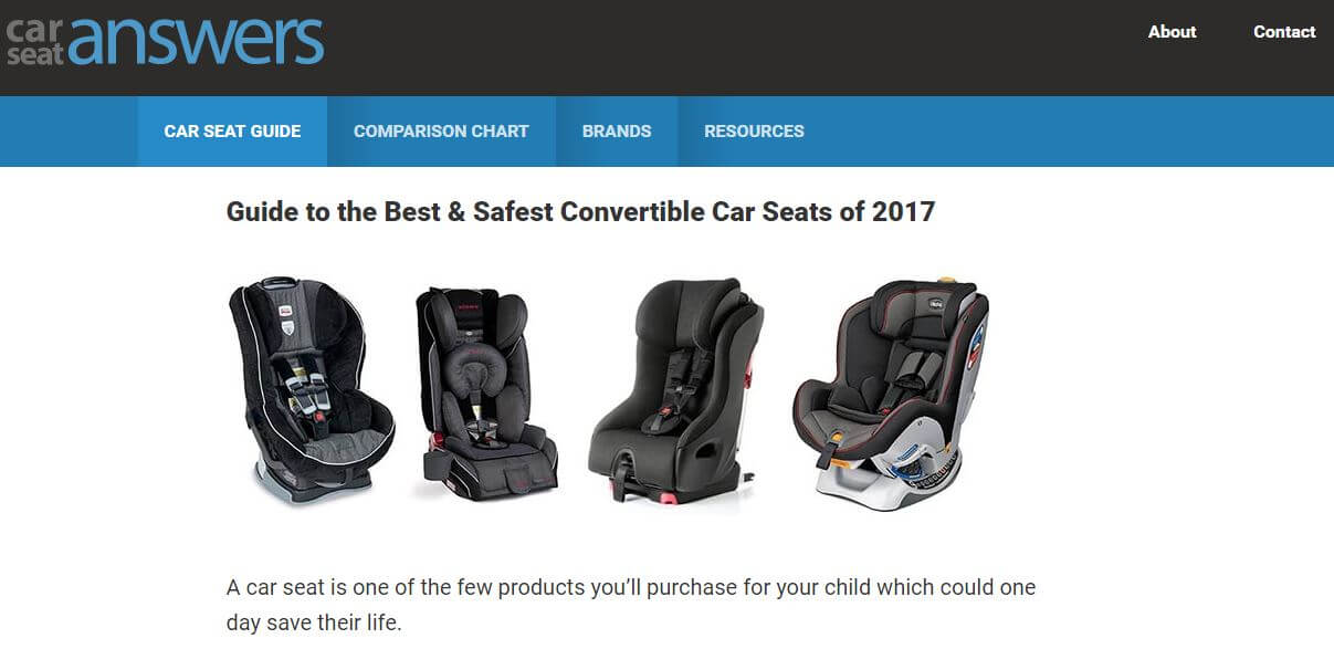CarSeatAnswers-Amazon Affiliate Website Example