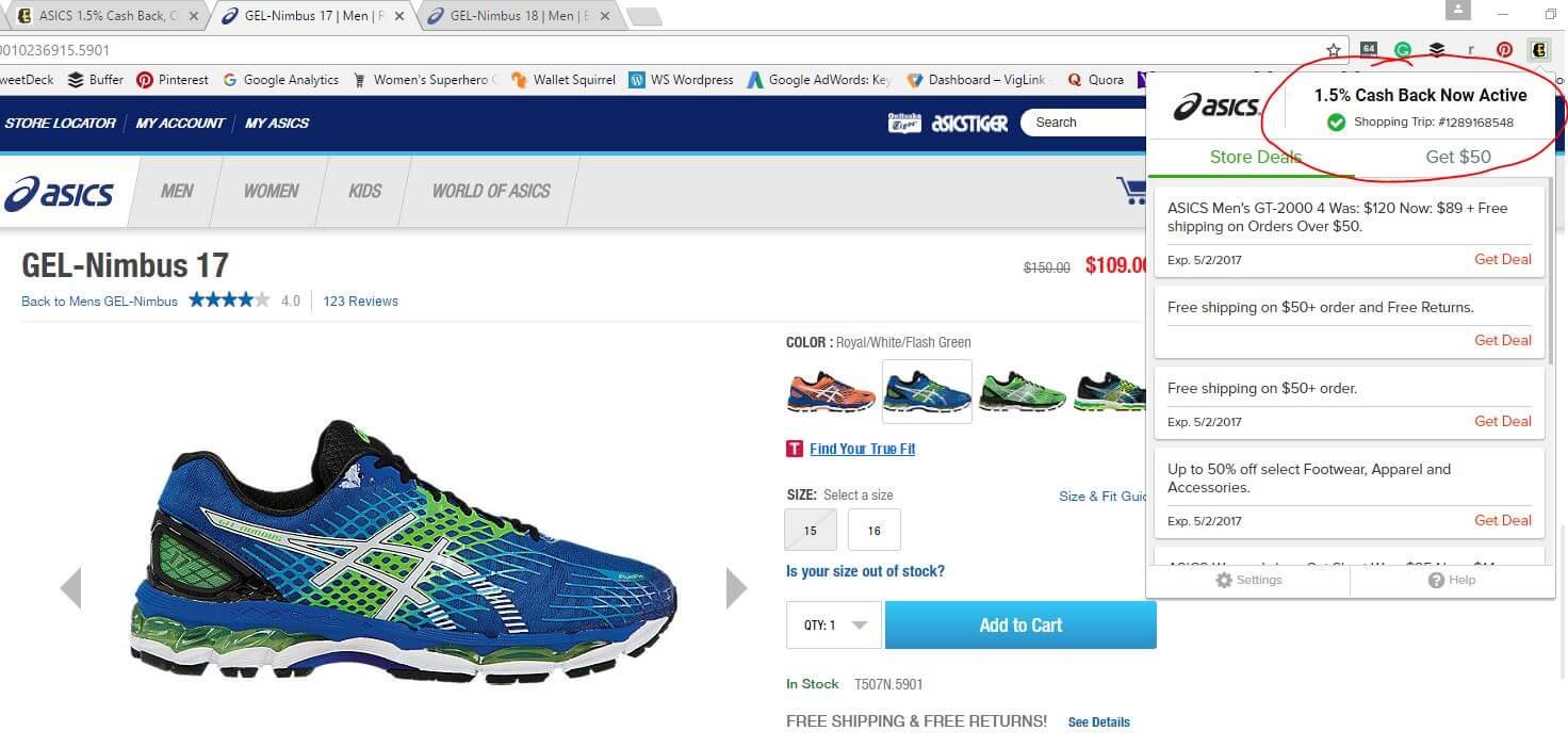 Asics Shoe Purchase