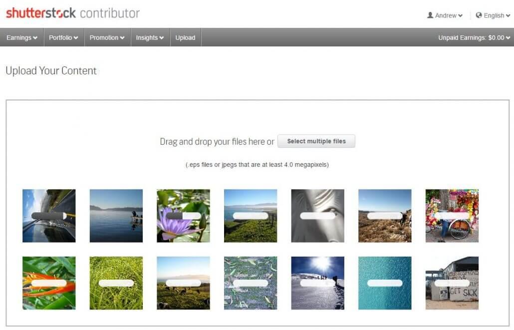 Upload to Shutterstock