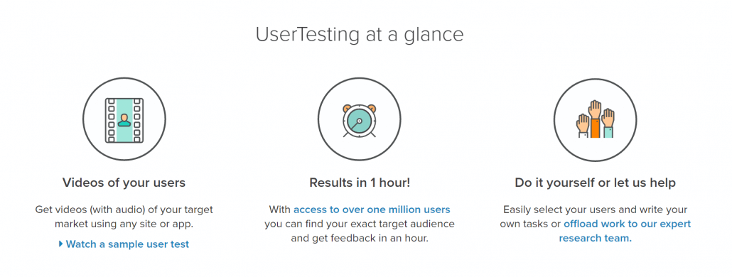 A glance as to what UserTesting does.