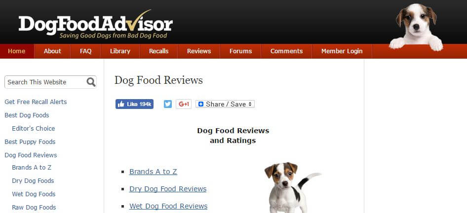 DogFoodAdvisor -Amazon Affiliate Website Example