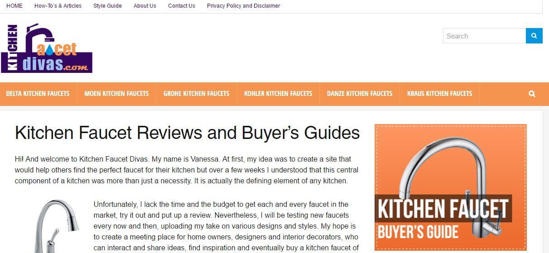 KichenFaucetDivas  Amazon Affiliate Website Example