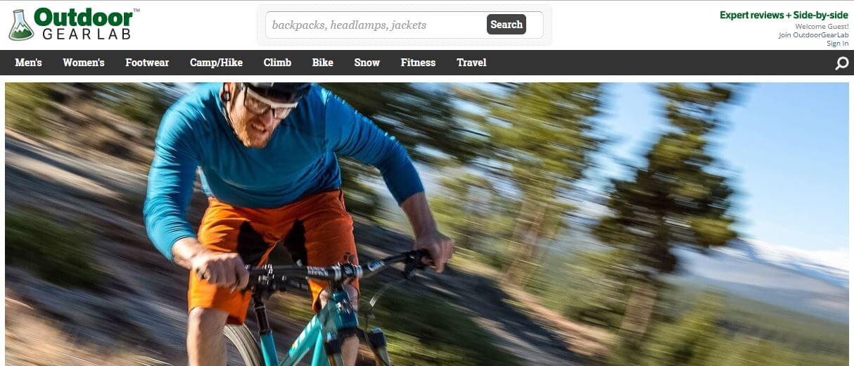 OutdoorGearLab -Amazon Affiliate Website Example