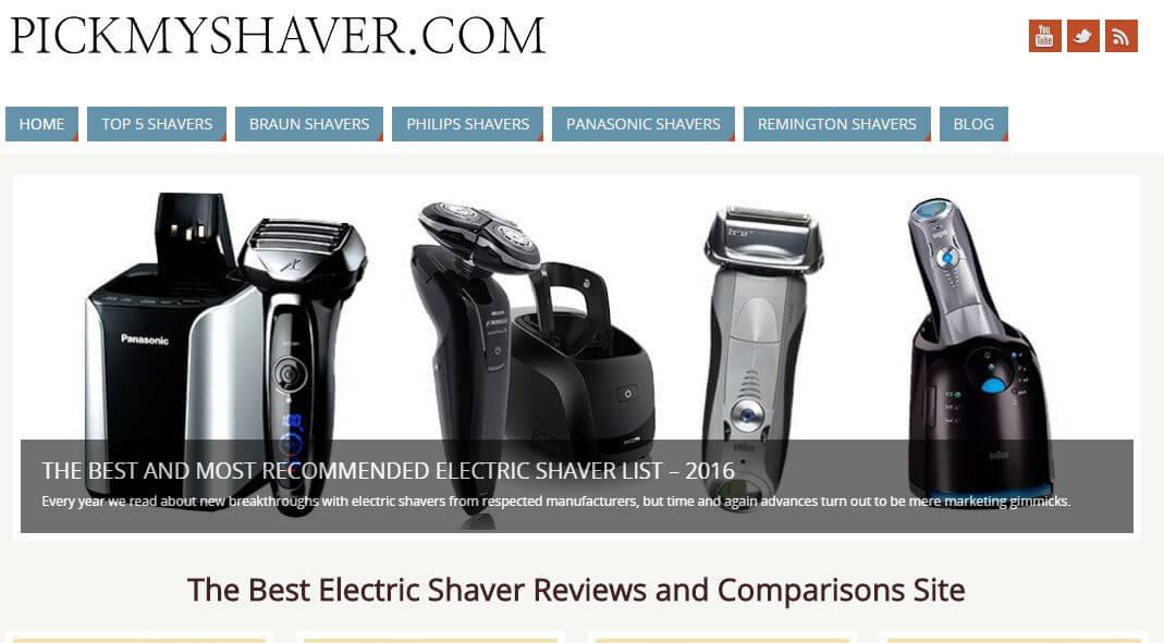 PickMyShaver -Amazon Affiliate Website Example