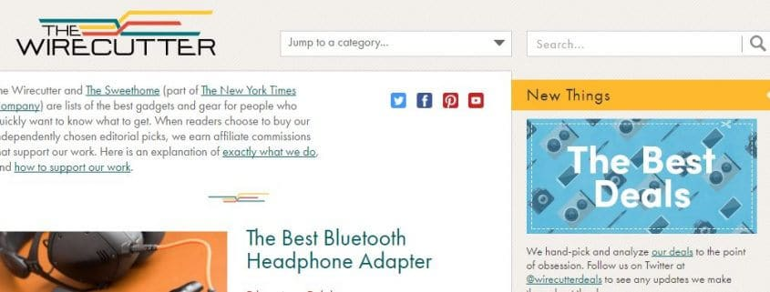 TheWirecutter-Amazon Affiliate Website Example