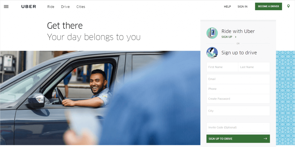 Uber or Lyft are great ways to earn extra money on your own time.